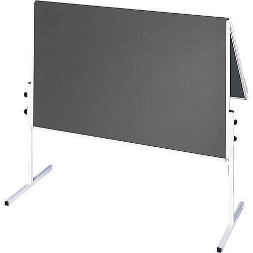 Franken ValueLine Training Board Foldable 1200x1500mm Felt Grey CC-UMTF-G12