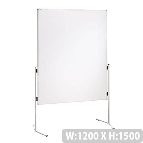 Franken ECO Training Board Whiteboard Aluminium Legs 1200x1500mm Lightweight Cardboard ECO-UMTK