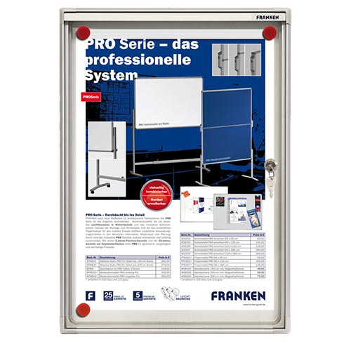 Franken Flat Display Cases ValueLine Magnetic Metal 1 x A4 FSA1