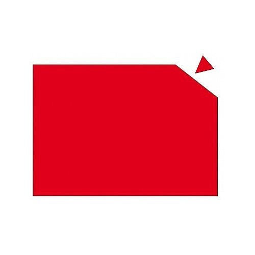 Franken Magnetic Sheet WxH 29.5 x 20cm 0.6mm Thickness Red