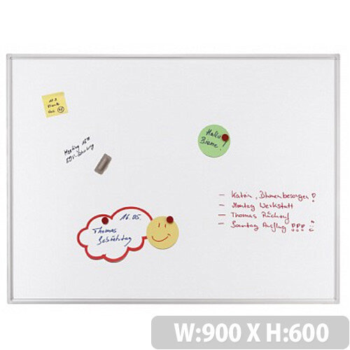 Franken ECO Magnetic Whiteboard Enameled Steel 900 x 600mm White SC4202