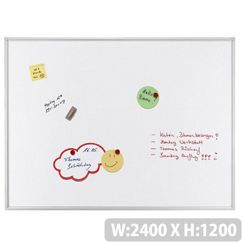 Franken ECO Magnetic Whiteboard Enameled Steel 2400 x 1200mm White SC4206
