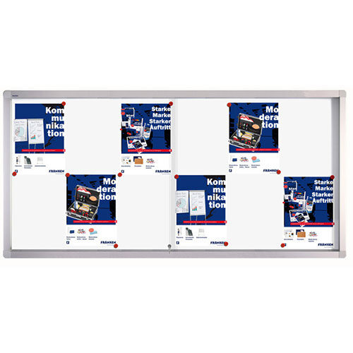 Franken Display Case PRO Magnetic Whiteboard 12 x A4 SK6112