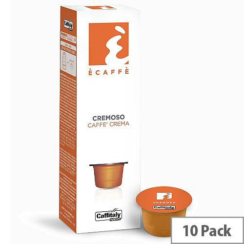 Cremoso Ecaffe Caffitaly Coffee Pods Sleeve of 10 Capsules