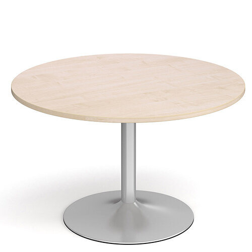 Genoa Circular Maple Dining Table with Silver Trumpet Base 1200mm
