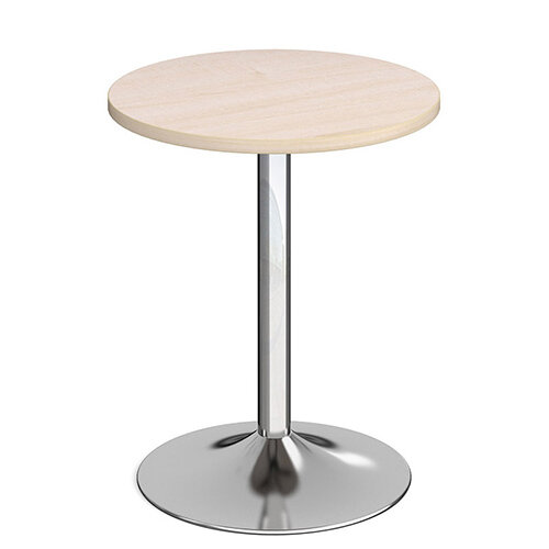 Genoa Circular Maple Dining Table with Chrome Trumpet Base 600mm