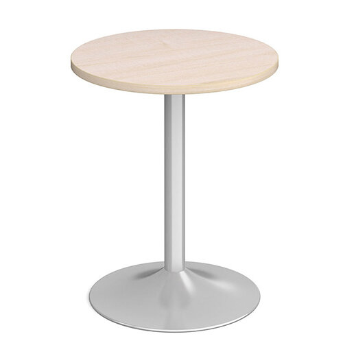 Genoa Circular Maple Dining Table with Silver Trumpet Base 600mm