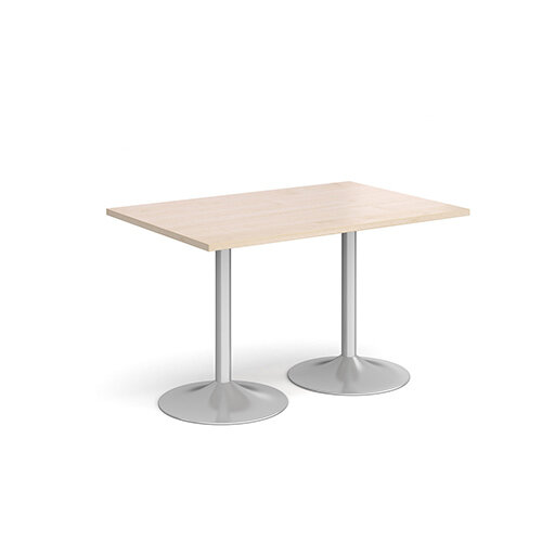 Genoa Rectangular Maple Dining Table with Silver Trumpet Base 1200mmX800mm