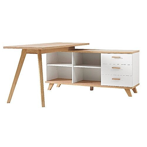 Superb Germania Oslo Home Office Desk With Integrated Storage Beutiful Home Inspiration Ommitmahrainfo