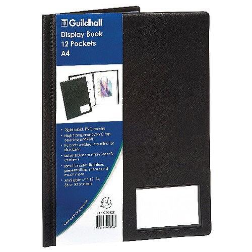 Guildhall Goldline Display Book A4 12 Pocket Black CDB12Z