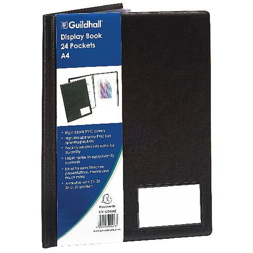 Guildhall Goldline Display Book A4 24 Pocket Black CDB24Z