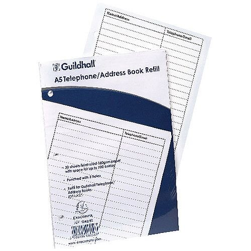 Goldline Address Book Refill Ruled Feint A5 GA5/R