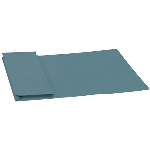 5 Star Elite Document Wallet Full Flap 315gsm Capacity 35mm Foolscap Blue Pack 50
