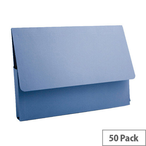 Guildhall Document Wallet A4 285gsm Blue Pack of 50 PDW4-BLUZ