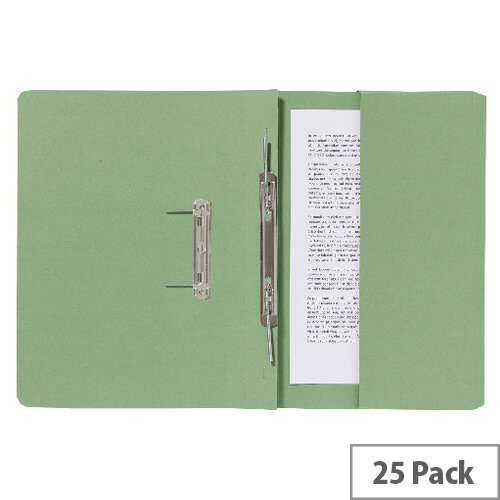 Guildhall Pocket Spiral File Green 347-Grnz Pk25