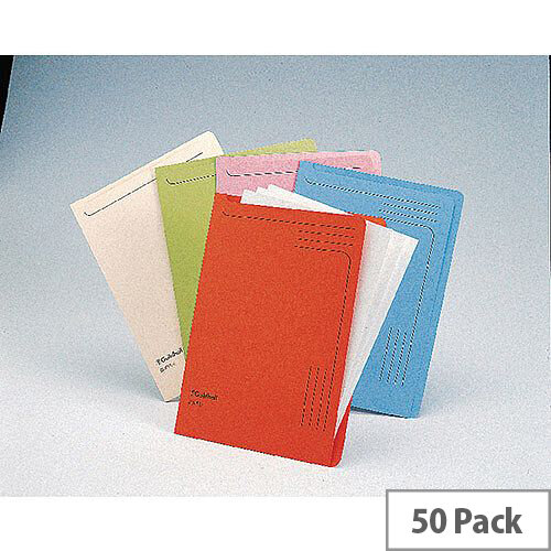 Guildhall Blue Slipfiles A4 Pack of 50