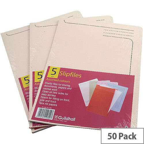 Guildhall Cream Slipfiles A4 Pack of 50 14609