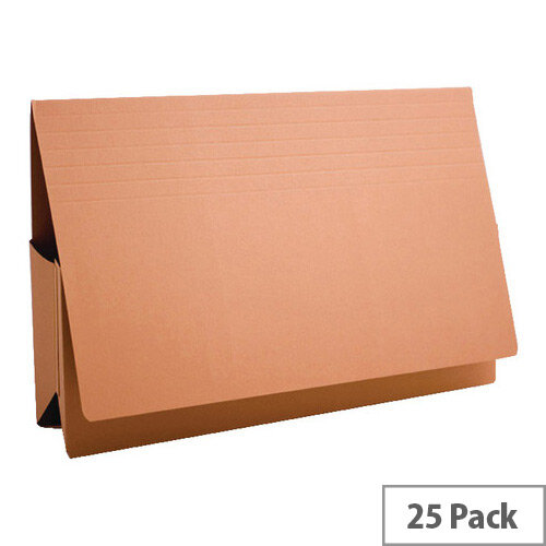 Guildhall Probate Foolscap Wallet Orange Pack of 25