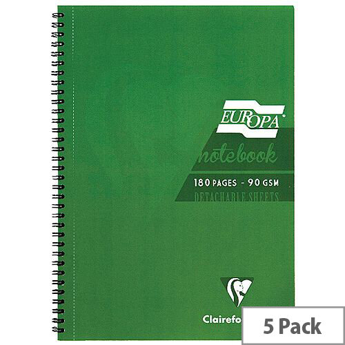 Europa A4 Notebook 180 Pages Green 5800Z
