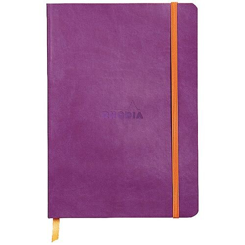 Rhodiarama Notebook Soft Cover A5 160 Pages Violet 117410C