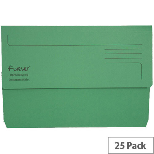 Guildhall Forever Bright Green Document Wallet Pack of 25 211/5004