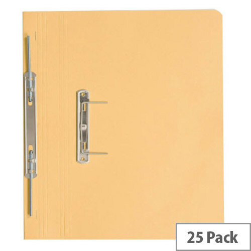Guildhall Super Heavyweight Pocket Spiral File Yellow 211/6003 Pack 25
