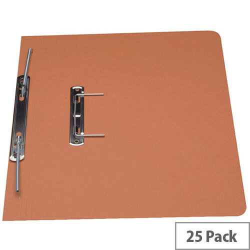 Guildhall Orange Heavyweight Spiral File Foolscap Pack of 25