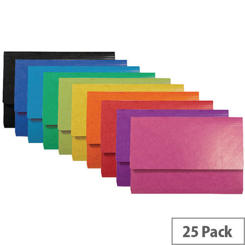 Iderama Pocket Wallet Foolscap Assorted Pack of 25 6500Z
