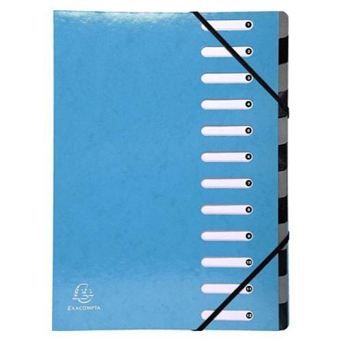 Exacompta Iderama 12 Part File Light Blue