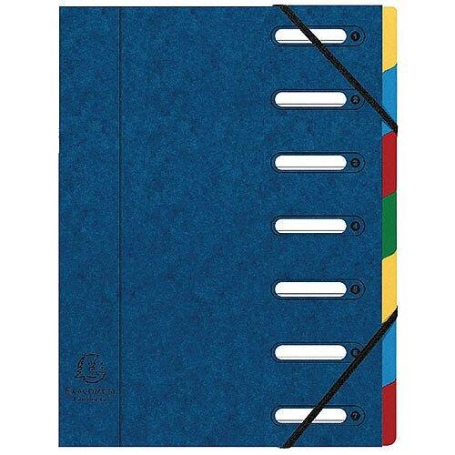 Exacompta Exactive Harmonika 7-Part File Blue 55072E