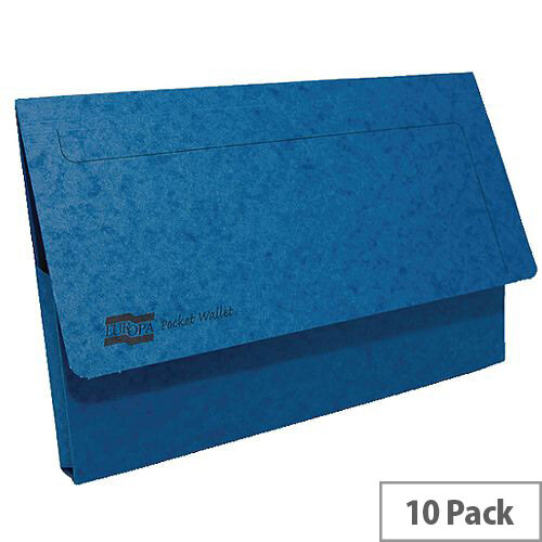 Europa Pocket Wallet Foolscap Blue Pack of 10 5255Z