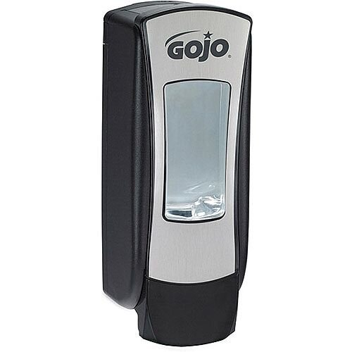 GOJO ADX-12 Manual Hand Wash Soap Dispenser Chrome and Black GOJO 1250ml Refills (Pack of 1) 888-06