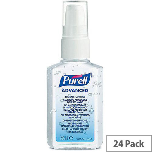 Purell Advanced Hygienic Hand Sanitisers Gel Rub 60ml (Pack 24)
