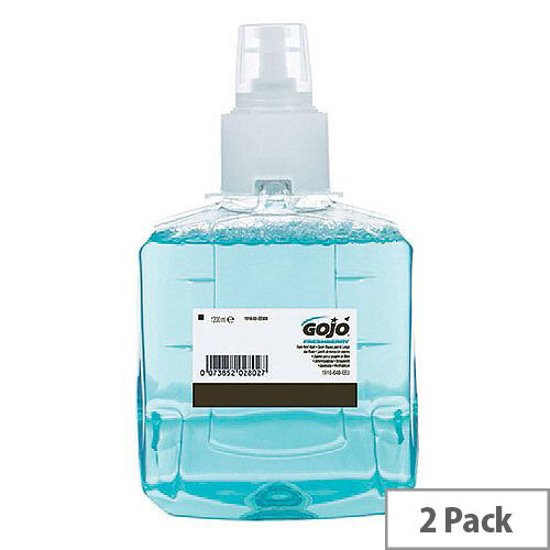 Gojo Freshberry Foam Hand Wash LTX-12 1200ml Refill Cartridges (Pack of 2) 1916-02-EEU