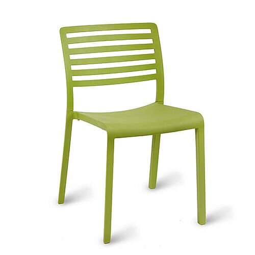 Astounding Sophie Outdoor Stacking Side Chair Green Olive Theyellowbook Wood Chair Design Ideas Theyellowbookinfo