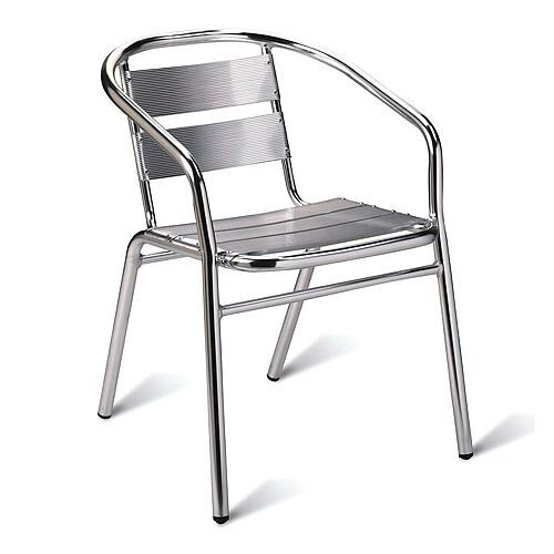 Aluminium Outdoor Stacking Arm Chair