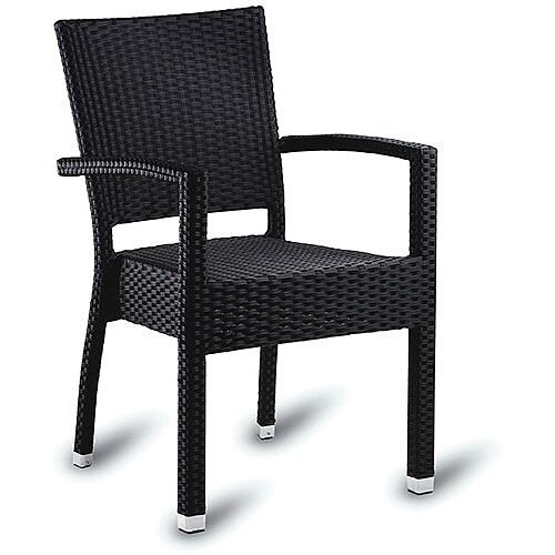 Sorrento Black Weave Outdoor Arm Chair