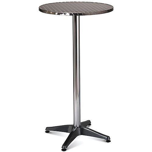Tall Aluminium 600mm Diameter Round Outdoor Cafe &Bistro Table