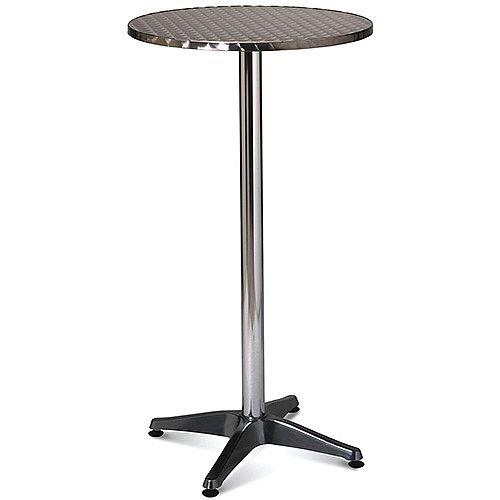 Outstanding Tall Aluminium 600Mm Diameter Round Outdoor Cafe Bistro Table Download Free Architecture Designs Scobabritishbridgeorg