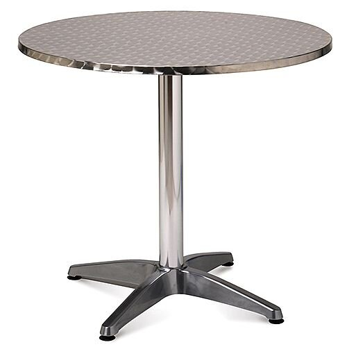Aluminium 800mm Round Outdoor Cafe &Bistro Table