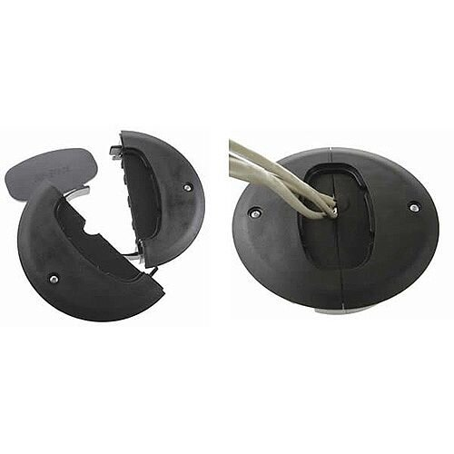 Black Air-Block Cable Grommet