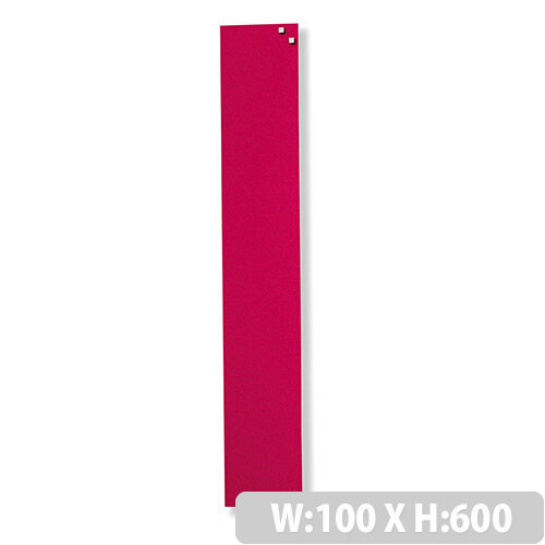 Franken Glass Magnetic Board 100x600mm Red GT106001