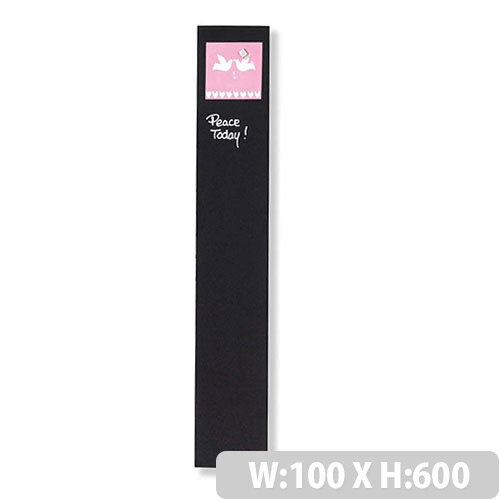 Franken Glass Magnetic Board 100x600mm Black GT106010