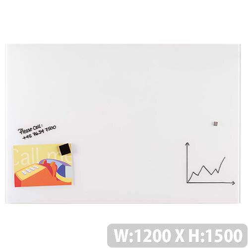 Franken Glass Magnetic Board 1200x1500mm White GT15012009