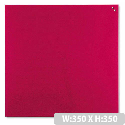 Franken Glass Magnetic Board 350x350mm Red GT353501