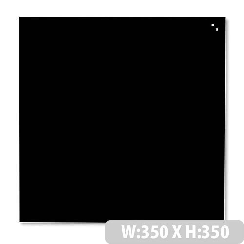 Franken Glass Magnetic Board 350x350mm Black GT353509