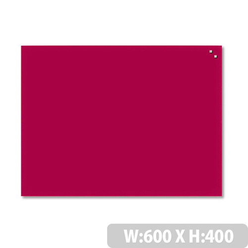 Franken Glass Magnetic Board 600x400mm Red GT406001