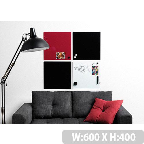 Franken Glass Magnetic Board 400x600mm Black GT406010