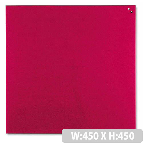 Franken Glass Magnetic Board 450x540mm Red GT454501