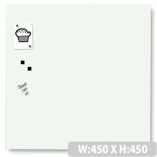 Franken Glass Magnetic Board 450x450mm White GT454509